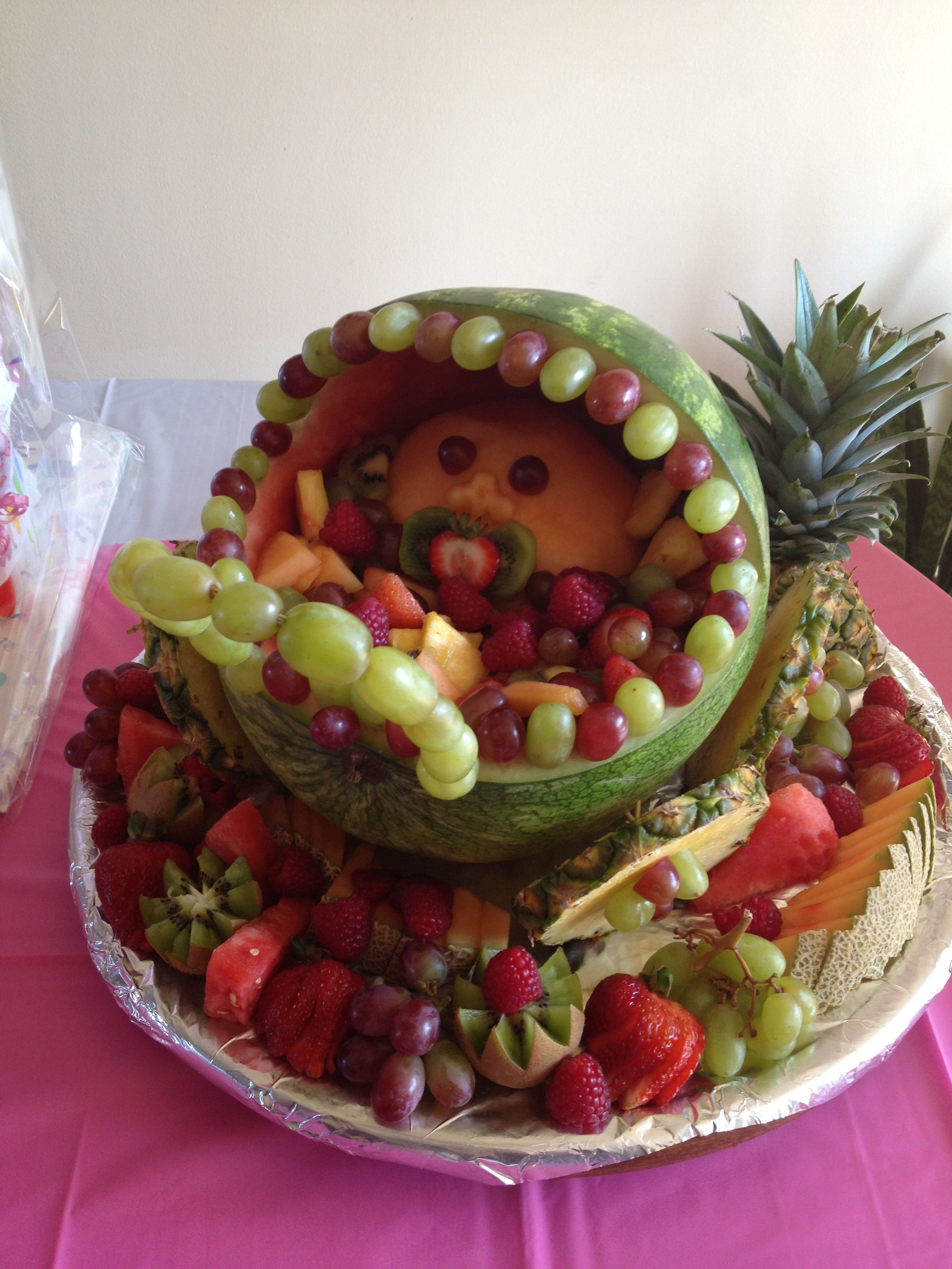 Baby carriage fruit salad parties pinterest baby carriage
