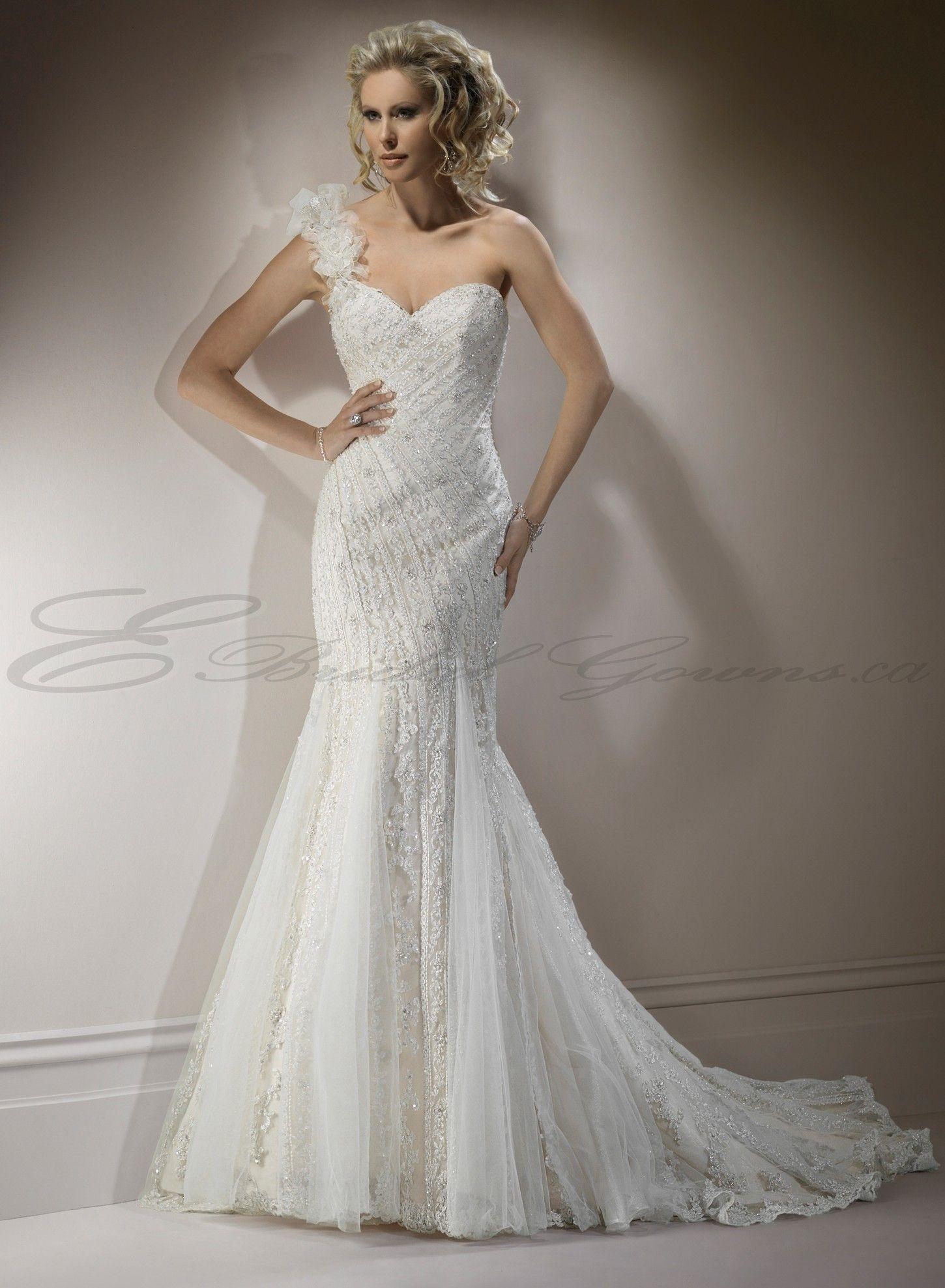 Mermaid Wedding Gowns | Lace Mermaid Sweetheart Neckline Fit and ...