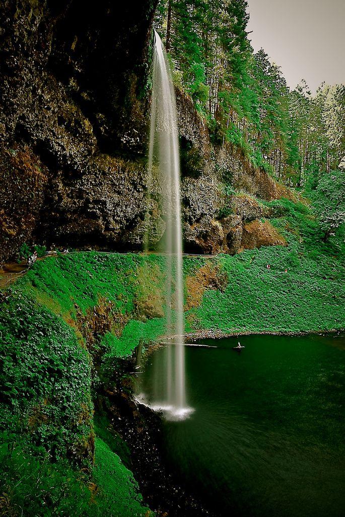 Waterfall Waterfall Oregon Waterfalls Beautiful Places