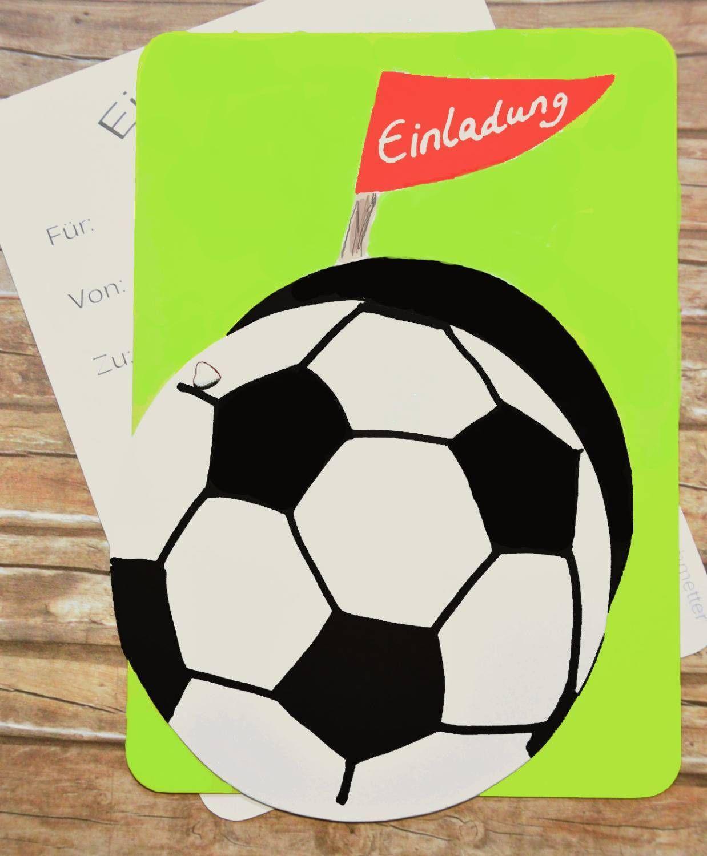 Einladungskarten Kindergeburtstag Fussball Einladungskarten