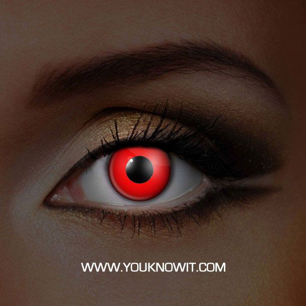 7436f2557a2 UV Glow Red Contact Lenses (Pair)
