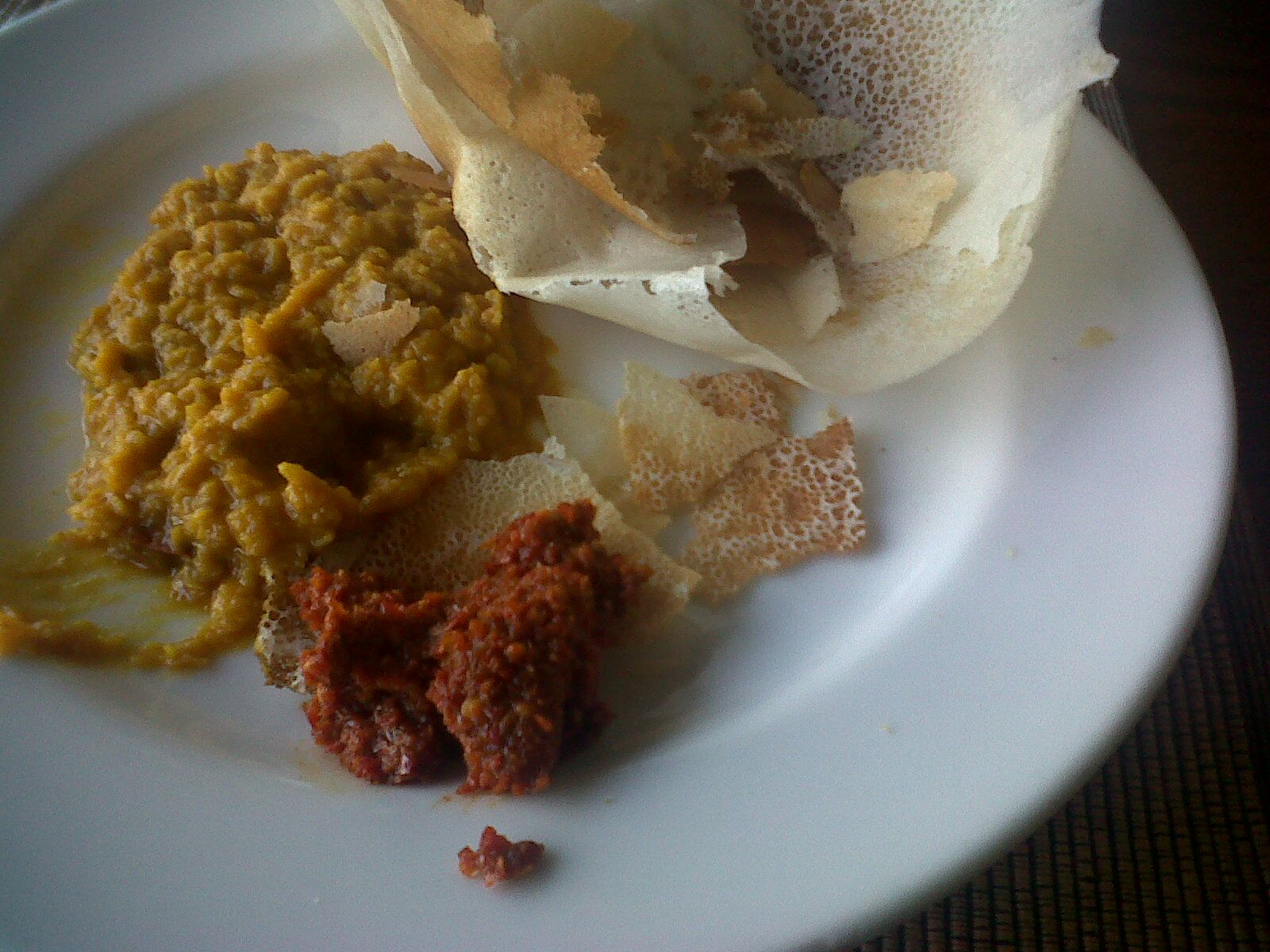 mouthwatering breakfast uppam & dhal! Cuisine