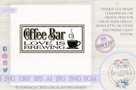 Download Coffee Bar Love Is Brewing with Mug Farmhouse Style LL197 ...