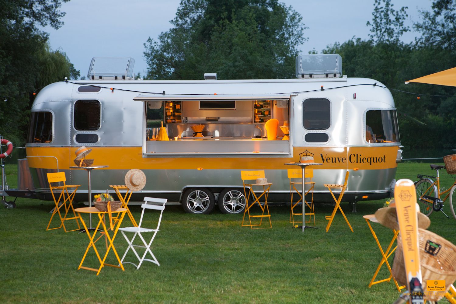 Two of the best things in life #veuveclicquot #airstream