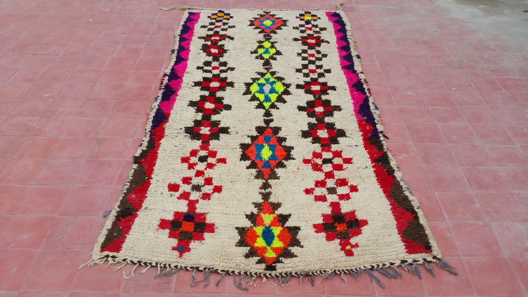 Vintage Moroccan Azilal Rug 1