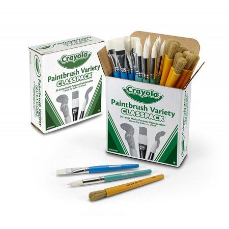 Crayola Paint Brush Classpack Variety Pack Painting Supplies 36