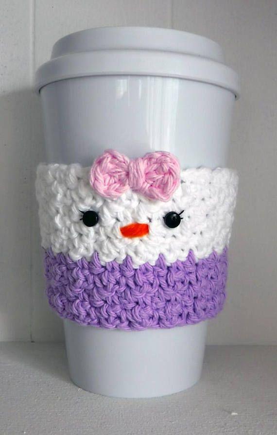 Crochet Daisy Duck Coffee Cup Cozy | Café acogedor, Acogedor y De cafe