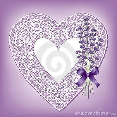 Lavender & Lace Heart Doily