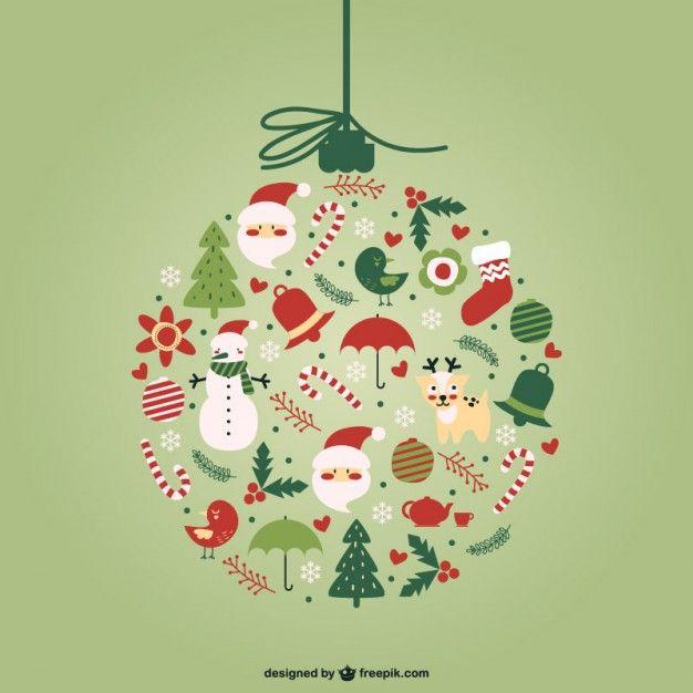 Download Creative Christmas Ball Vector For Free Beautiful Christmas Cards Creative Christmas Merry Christmas Card Greetings
