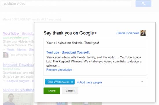 Ahora se puede agradecer en Google Plus
