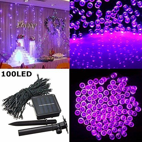 Solar Outdoor String Lights, Satu Brown 21ft 30 LED Fairy Water Drop Lights Waterproof Decorative Lighting for Home, Garden, Patio, Yard, Christmas Tree, Parties (Multi-color)
