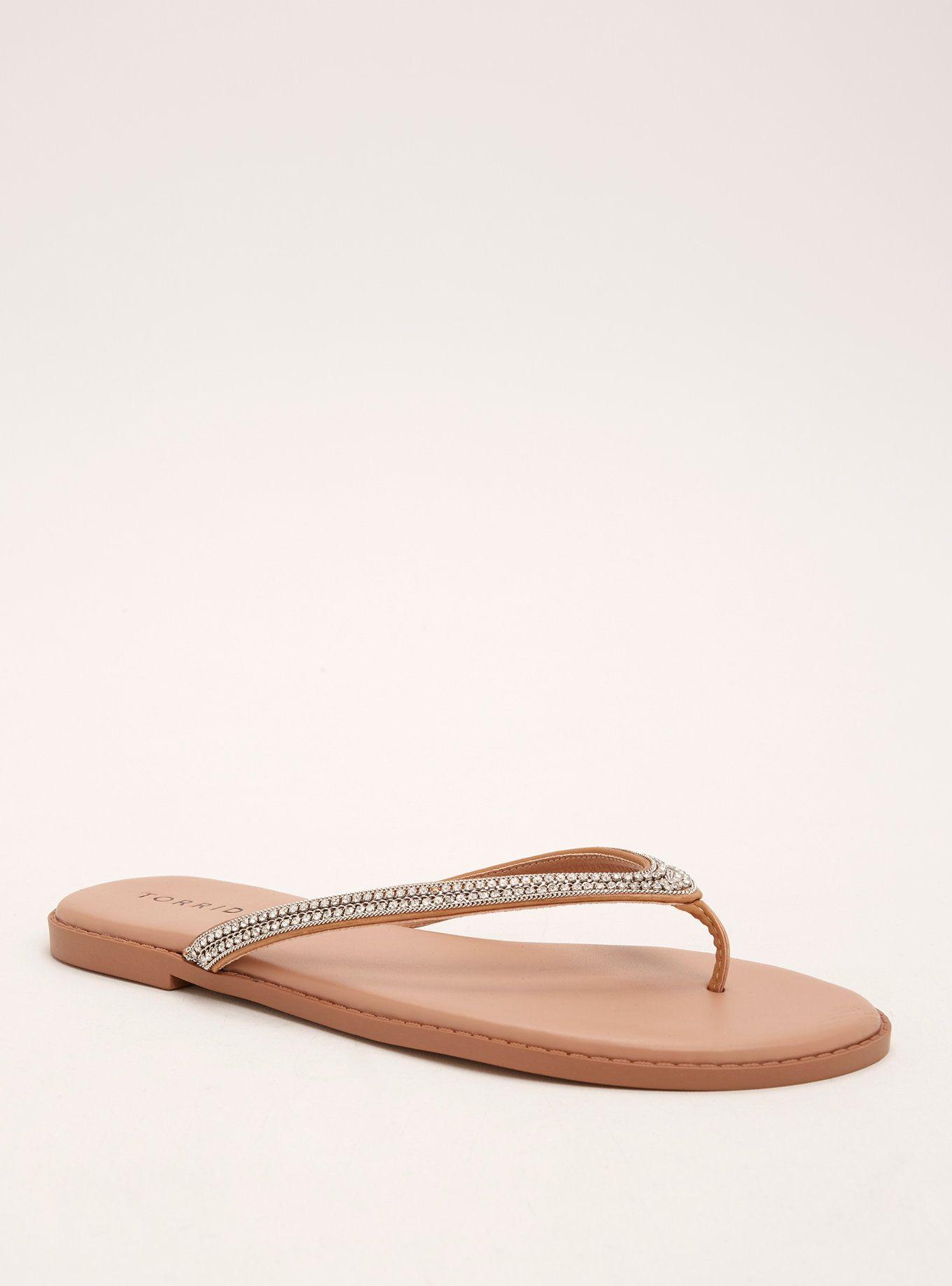b75acdd8d Gemstone Embellished Flip Flops (Wide Width)