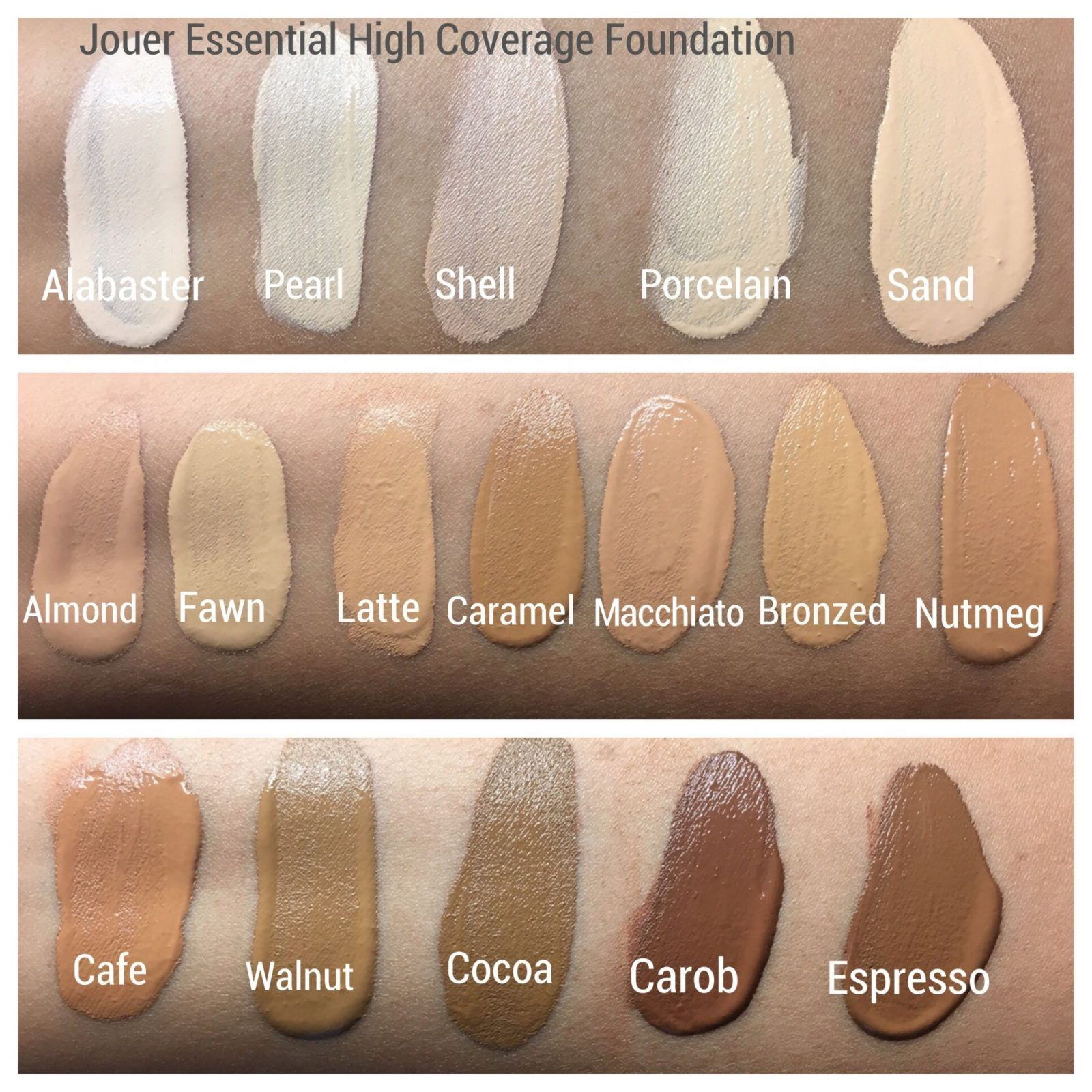 Jouer Essential High Coverage Creme Foundation Review Swatches