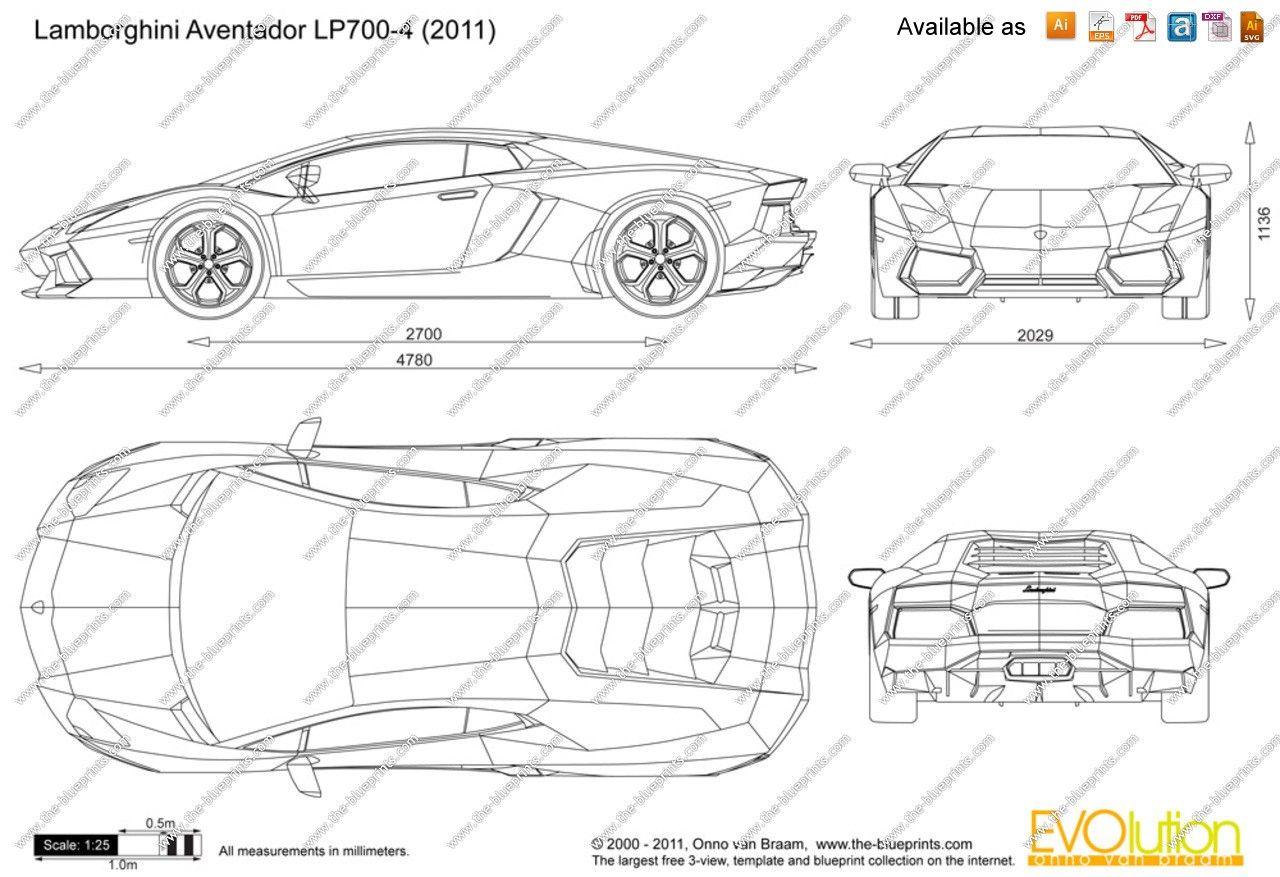 Lamborghini Aventador Lp700 4 Blueprint