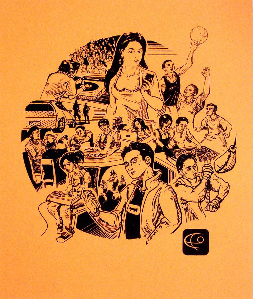Etonomous lifestyle personal piece silkscreen print