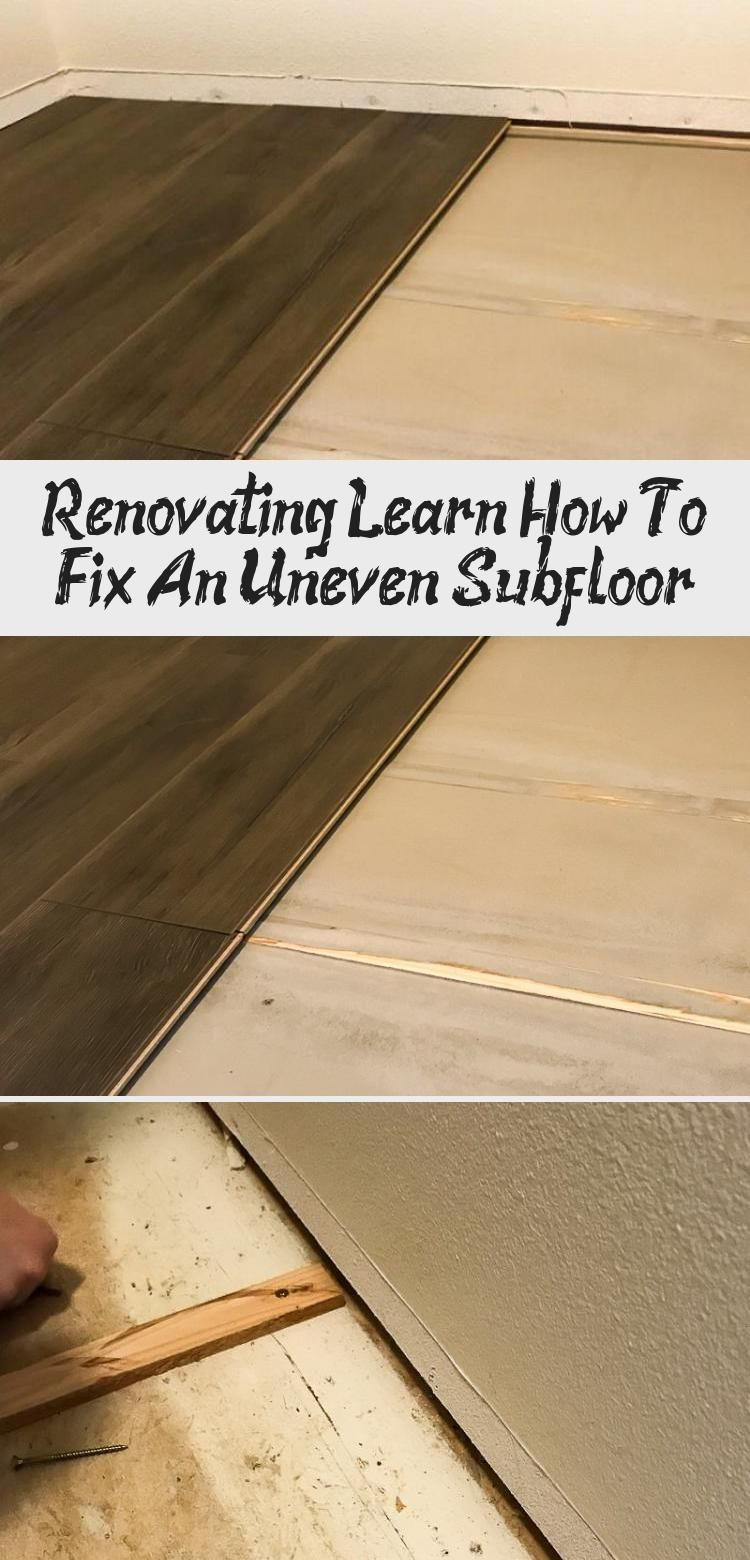 See How To Fix An Uneven Subfloor Before Installing Laminate Flooring Diyhomeimprovementpatio Diyhom In 2020 Installing Laminate Flooring Laminate Flooring Flooring