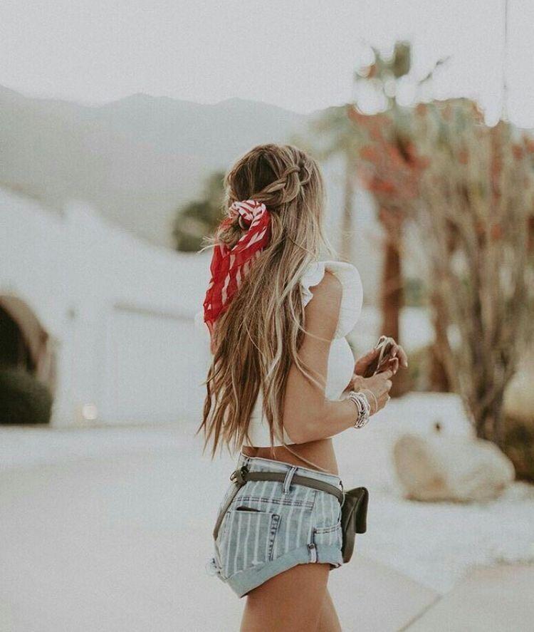 Lindo y sin esfuerzo peinados ochenteros Fotos de cortes de pelo tendencias - Mejores Peinado con Cola de Caballo y Bandana (Fáciles y ...