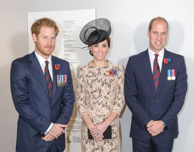 Young British Royals Attend Somme Service in France