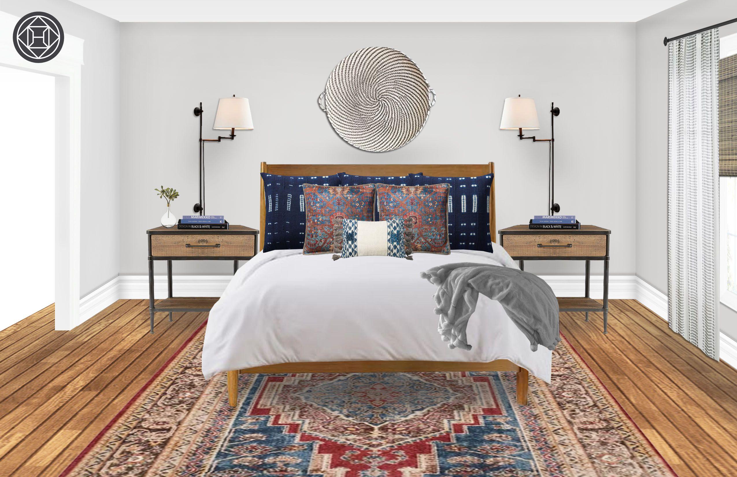 Best Bohemian Midcentury Modern Bedroom Design By Havenly 400 x 300