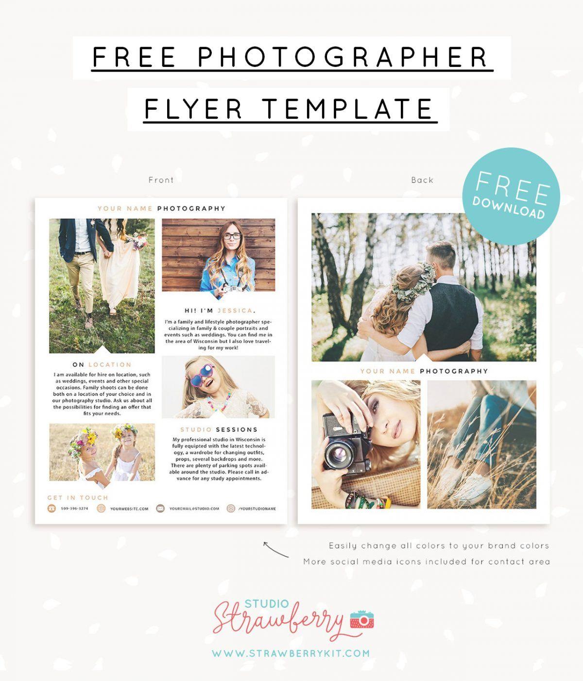 Free Photographer Flyer Template Photographer Flyers Photography Flyer Photography Templates Free Free marketing template for photographers