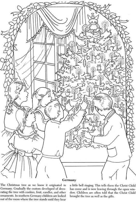 Coloring page Dover coloring pages, Christmas coloring