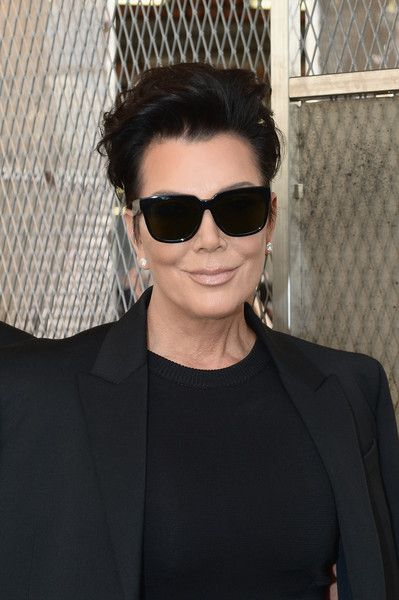 6f34a70bb8 Kris Jenner Square Sunglasses - Kris Jenner attended the Givenchy Menswear  fashion show wearing a pair of square shades.
