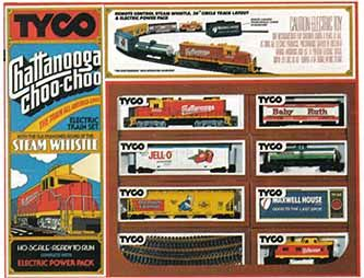 WK - Chattanooga Choo-Choo Model Train Set by Tyco, 1970's
