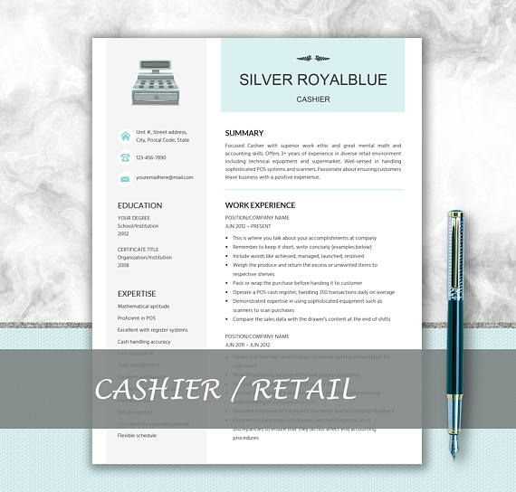 Cashier Resume Retail Resume Cover Letter CV Writing - retail resume templates