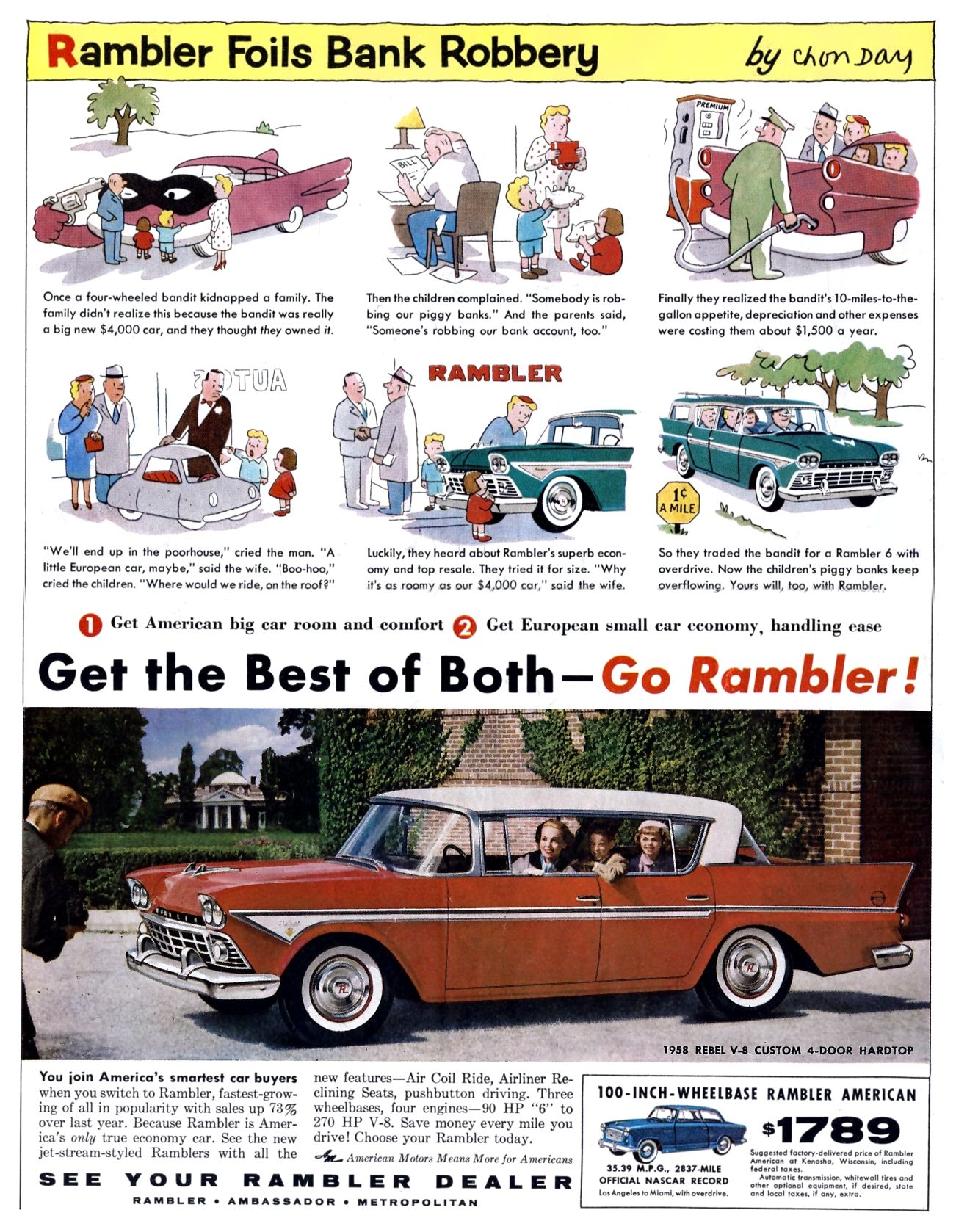 Car Ads Uk Cars Amc Rambler Ambassador De Luxe For Sale 1959 On