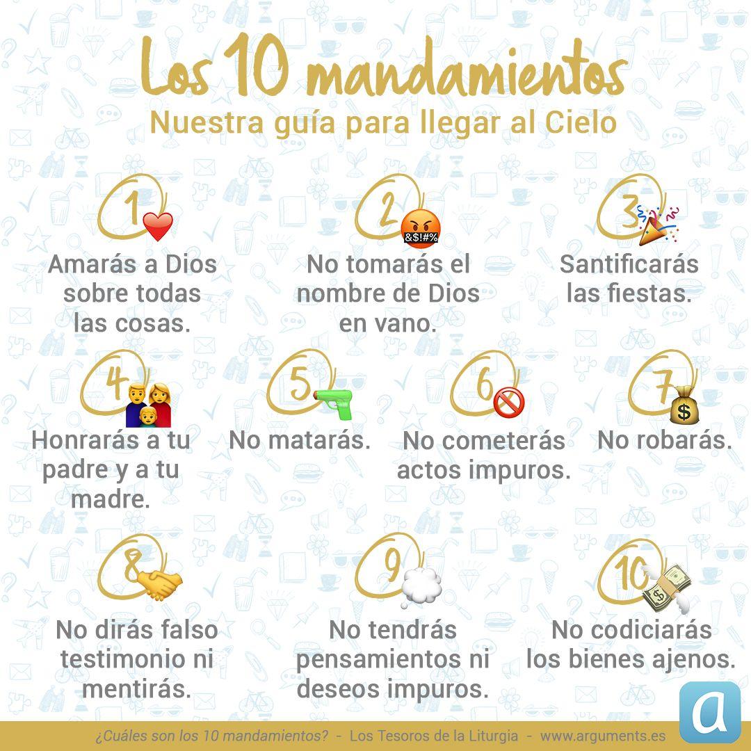 Los 10 Mandamientos 10 Mandamientos Para Ninos Los 10 Mandamientos Cristianos Mandamientos De Dios