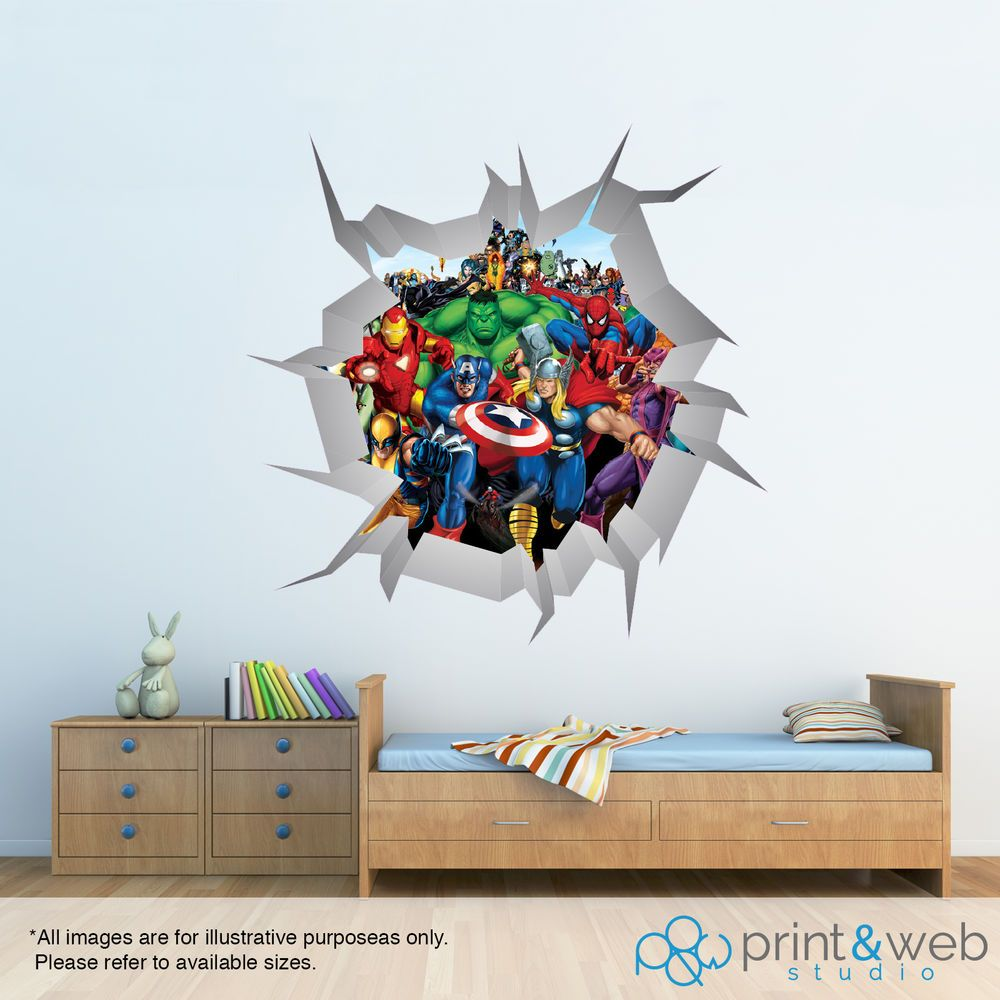 Marvel superheroes wall smash wall decal sticker bedroom vinyl art marvel superheroes wall smash wall decal sticker bedroom vinyl art mural kids amipublicfo Gallery
