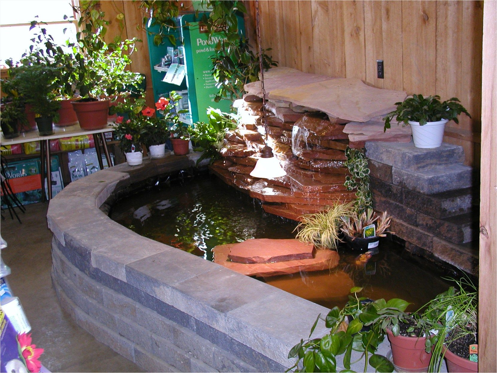 43 Fresh Stunning Indoor Fish Ponds With Waterfall Ideas Garden
