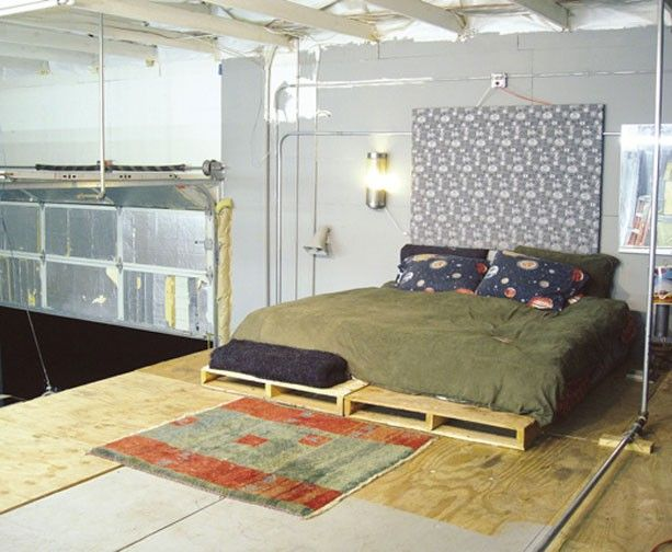 Pallet Bed Baseif Its Too Long On The Endmaybe A Cushion To Sit Some Foam Covered With Material