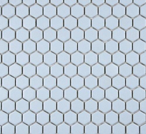 Colonial Light Blue Hexagon Porcelain Mosaic Tile 1 Inch Matte Porcelain Mosaic Porcelain Mosaic Tile Hexagonal Mosaic