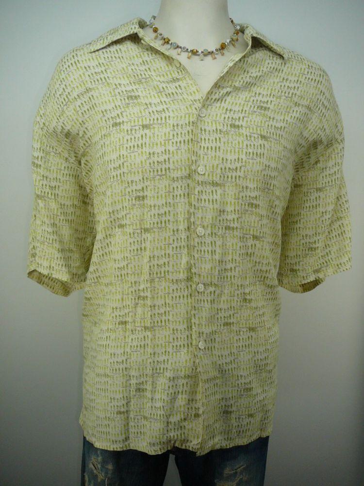 mens - R & R CASUALS  shirt  L  Free Shipping - stylish Hawaiian button up front #RRCasuals #Hawaiian
