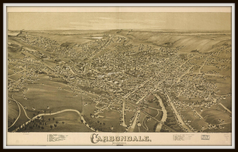 20x30 Santa Rosa California 1876 Historic Panoramic Town Map