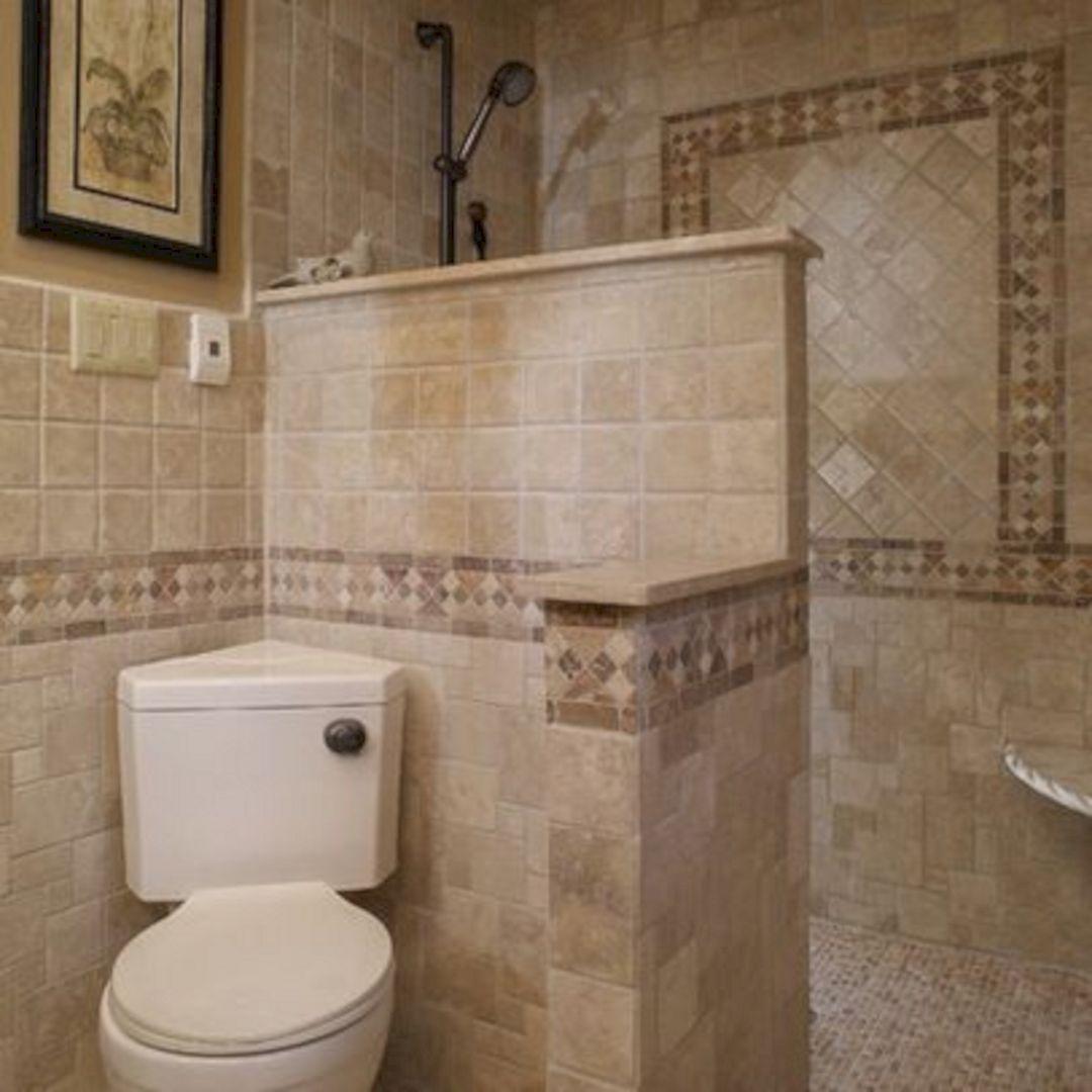 Adorable 25 Small Bathroom Shower Doorless Design Ideas Freshouz Com Mediterranean Bathroom Small Bathroom Remodel Designs Bathroom Remodel Designs