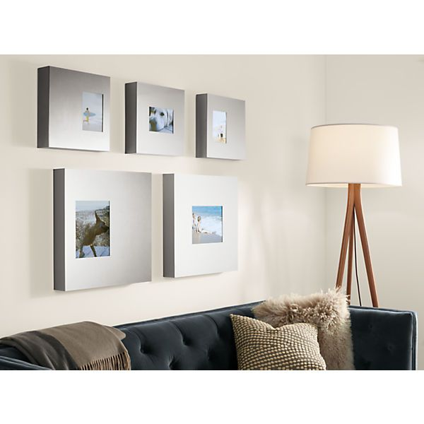 Manhattan Box Frames in Stainless Steel | LR | Pinterest | Box ...