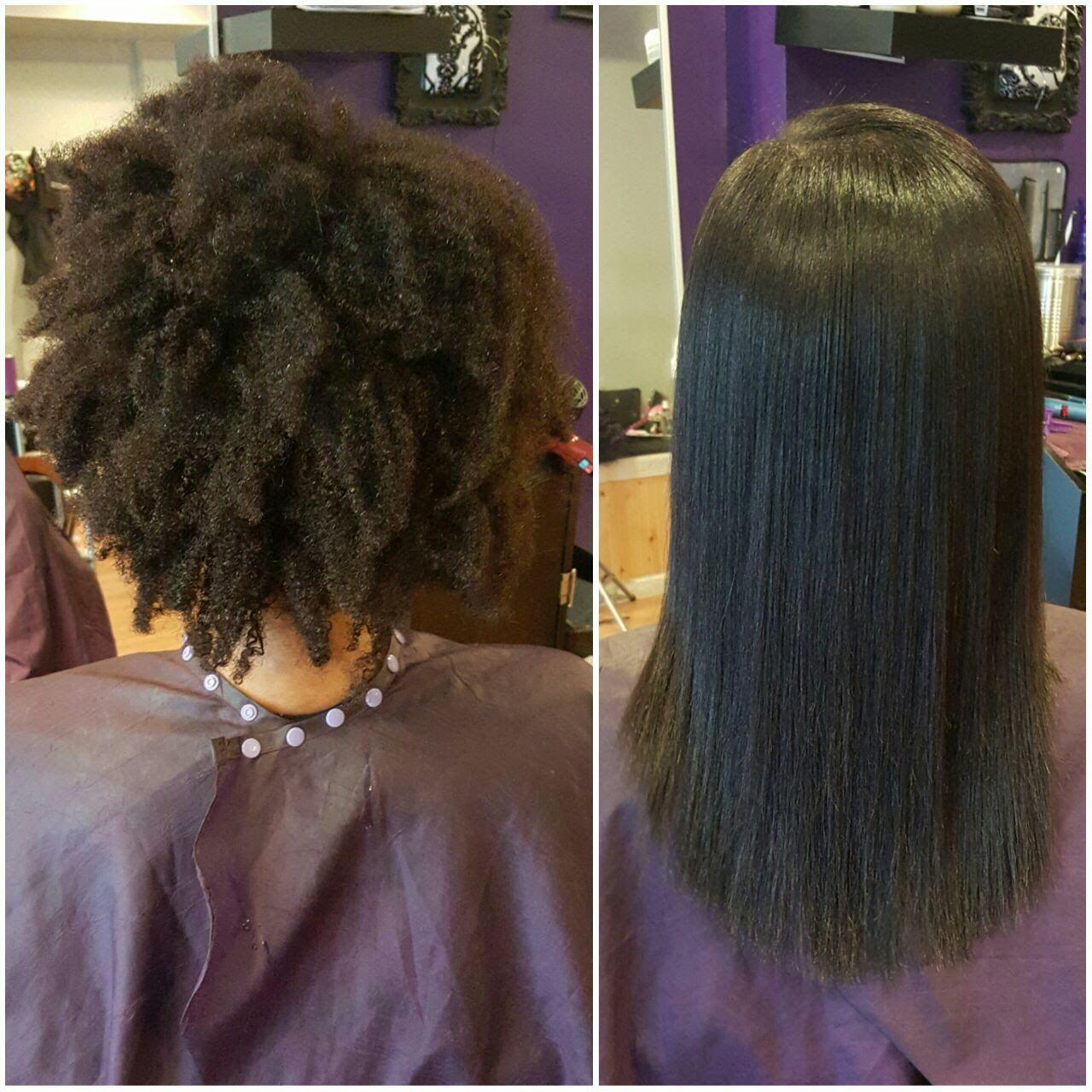 Silk Press On Natural Hair Silk Press Natural Hair Thick Hair Styles Natural Hair Styles