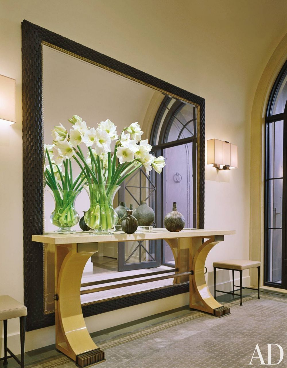 modern entrance hall by thomas pheasant in las vegas on ideas for decorating entryway contemporary wall mirrors id=97358