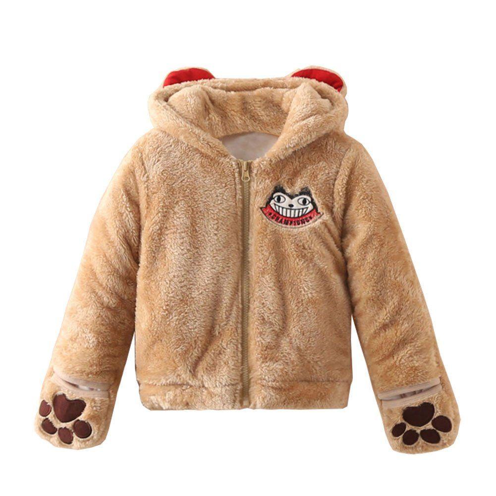 Mud Kingdom Little Boys Hoodie Coat Fur Lined Zip-up Warm Winter Outerwear