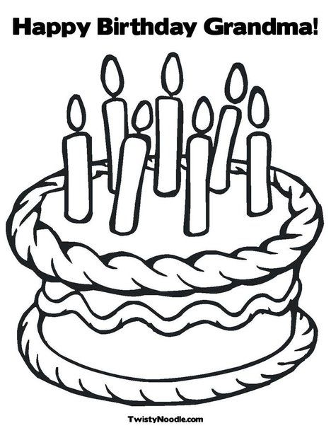 free birthday coloring pages grandmother - photo#9