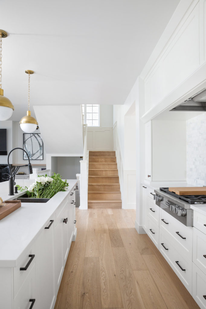 White Kitchen With White Oak Hardwood Calgary Interior Design By Reena Sotropa At Home Furniture Store Home Decor Kitchen Design