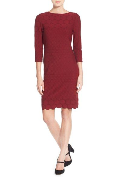 Julia Jordan Eyelet Sheath Dress (Online Only) available at #Nordstrom