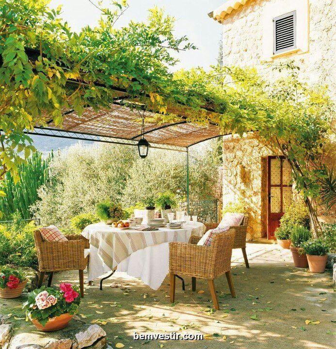 Green French Backyard