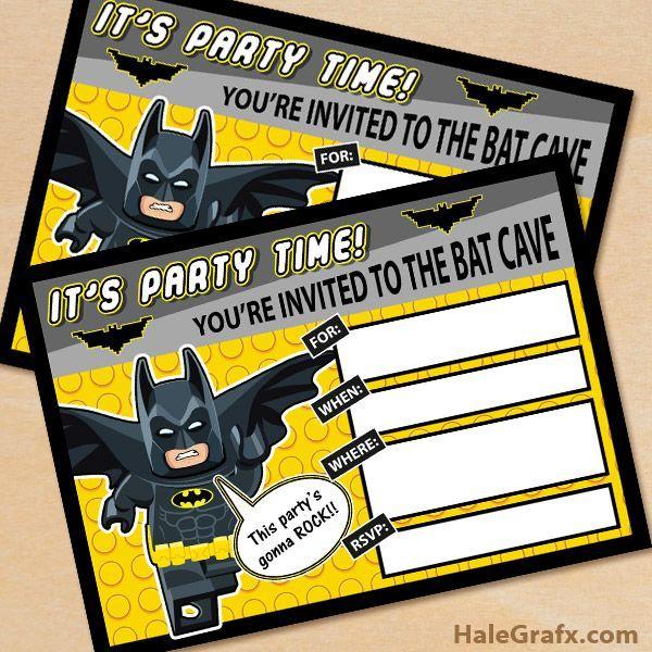 free printable lego batman birthday