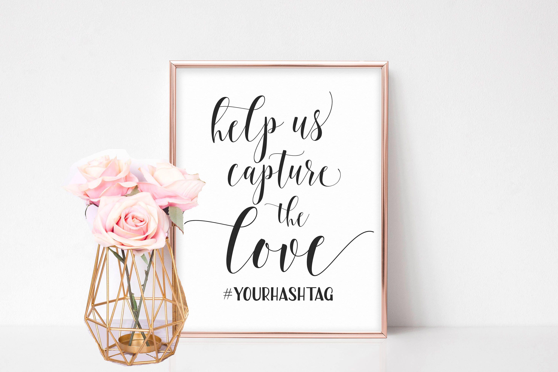 Wedding Hashtag Sign Printable, Hashtag Wedding Sign
