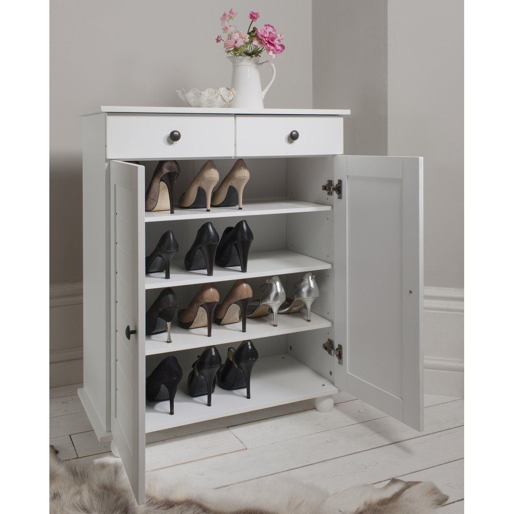 noa and nani heathfield shoe storage unit in white shoe