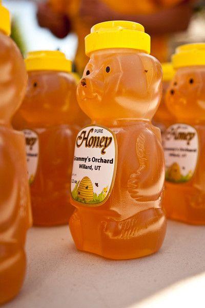 Local honey at the Gardner Village Farmers Market! (Utah)