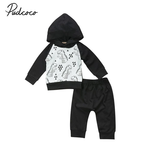 Baby Boy Girl Outfits Long Sleeve Pullover Shirt Tops Pants Trousers Clothes
